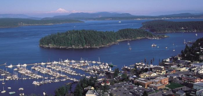 Friday Harbor aerial by Mark Gardner