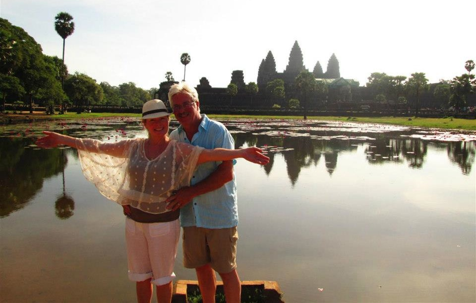 Grateful clients flew Debra and her husband Mitch to Thailand to thank them for their hard work.