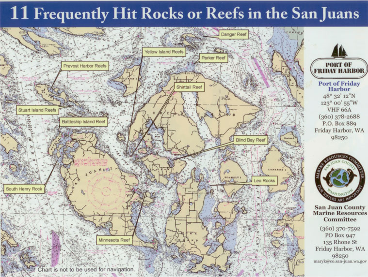 Rocks and Reefs in the San Juan Islands